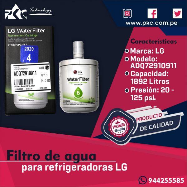 Filtro de agua Refrigeradora LG ADQ72910911